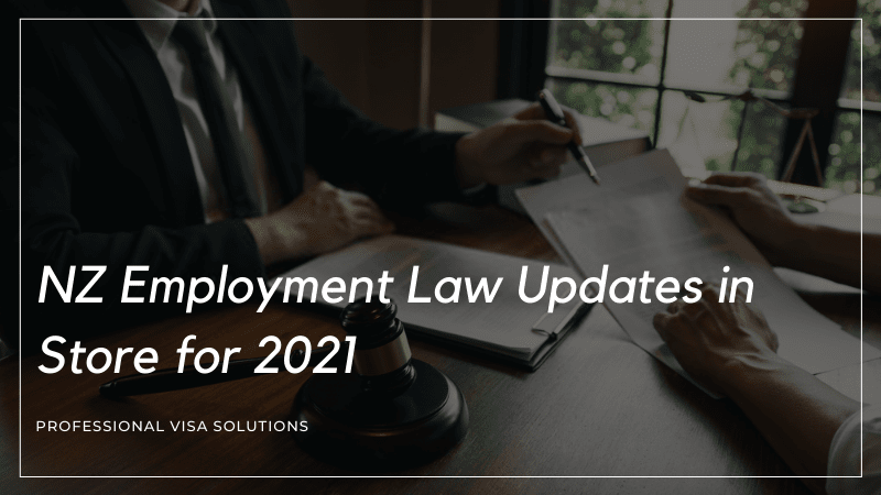 NZ Employment Law Updates in Store for 2021
